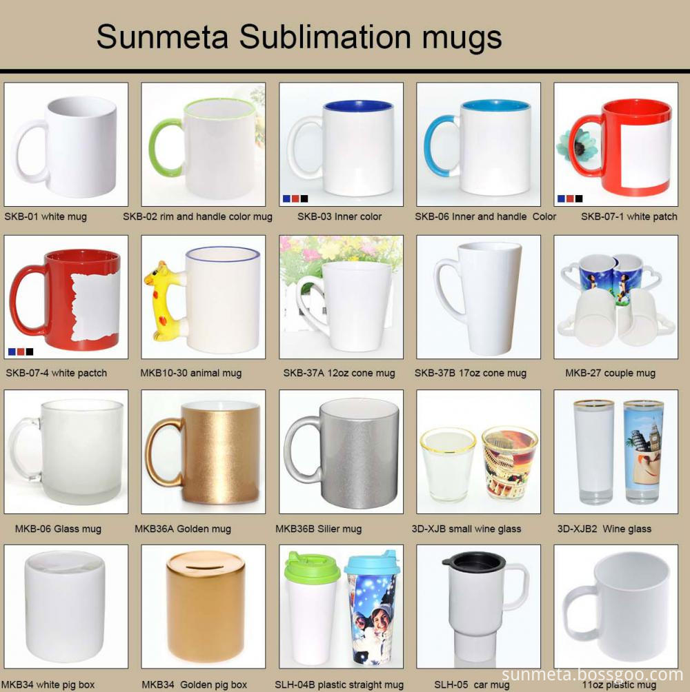 sunmeta sublimation mugs