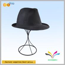 Contador de muestra de pelo negro alambre peluquería pantalla estantería sombreros