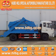 10cbm 190hp swinging arm garbage truck roll off garbage truck sanitation vehicle DONGFENG 4x2 good quality low price