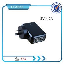 5V 4.2A 4 ports USB Chargeur de voyage USB Adaptateur USB Chargeur mural