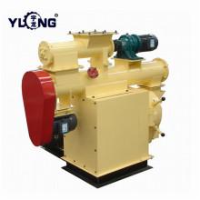 Máquina de hacer pellets de alimentación de aves de corral Yulong con tolva