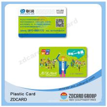 2016 Neue Design Plastikkarten mit PVC für Health Club VIP Mitgliedschaft