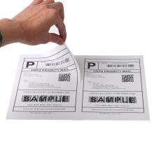 Versandetiketten mit einem halben Blatt Kleber a4 Papieraufkleber