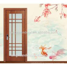 Ven con marco doouble vidrio interior puerta de madera puerta interior
