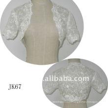 JK67 women Beaded Long sleeves wedding jacket
