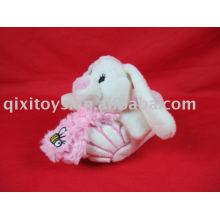 plush rabbit kid's shoes toy, soft winter bunny indoor slipper, EVA fashion slipper