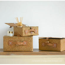 (BC-ST1082) Practical Pure Manual Natural Straw Basket with Cover