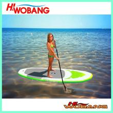 Aufblasbares Stand-Up-Surfbrett mit Paddeln