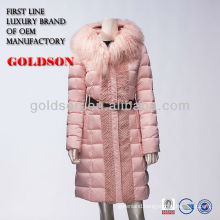 Women fashion coats 2017 in China OEM manufacture with goose down jacket