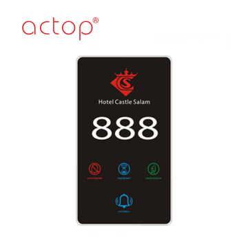2018 Smart Hotel Electronic Number Doorplate nuovo design