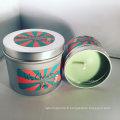 Dernières bougies parfumées d'aromathérapie décoratives de voyage d'étain