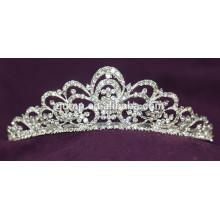 Хорошее качество Мини Скидка Пользовательские Свадебная тиара Блестящий Кристалл новобрачных короны