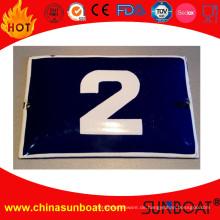 Emaille Schild Board Hausnummer / Emaille Türschild