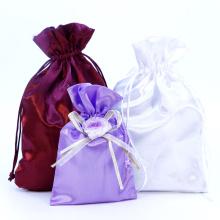 Cheap Custom Printed Satin Hair Dust Bag Satin Pouch
