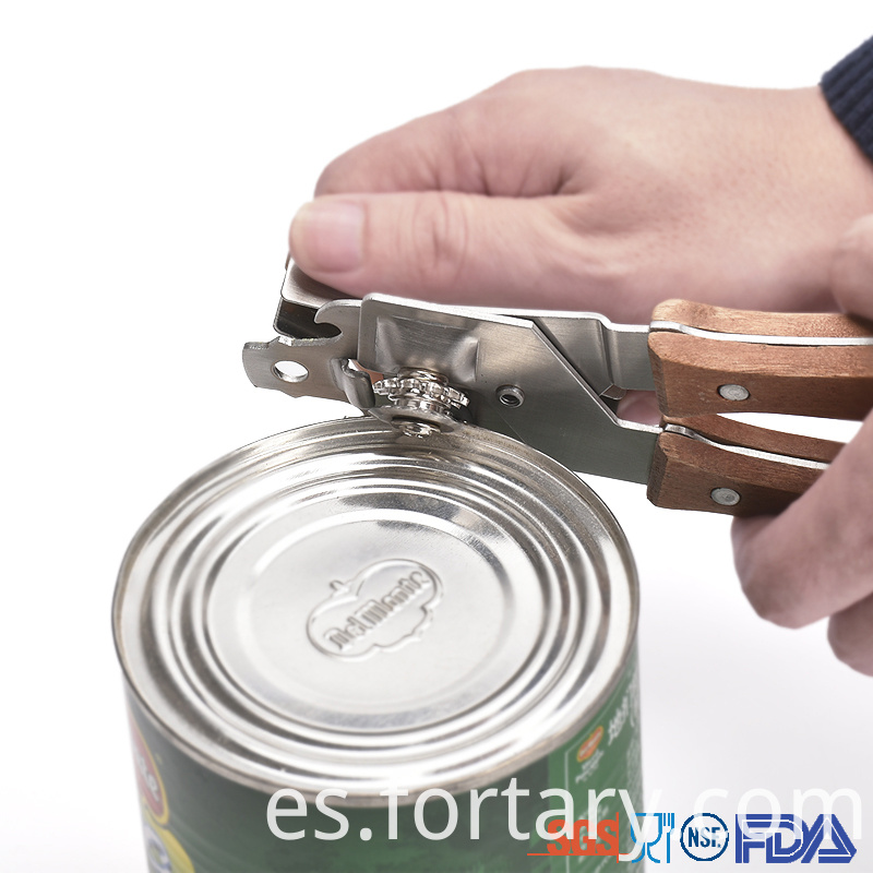 Stainless Steel Wooden handle Can Opener