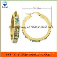 Fashion Body Jewelry Ear Stud Stainless Steel Earring Jewelry (ERS6939)
