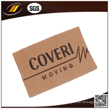 Embossed Genuine Leather Label for Jeans Suitcase Bags (HJL40)