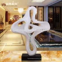 Hochwertige Material Innen-Outdoor-dekorative Wolke Form weiße Statue Handwerk