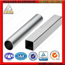 Tubo quadrado de alumínio anodizado
