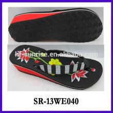 Fashion Wedge ladies EVA slipper flip flop eva slipper woman slipper