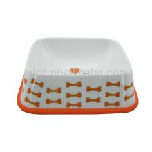 Выдвиженческий красный керамическая миска для собаки с силиконовой подставкой