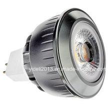 MR16 5W COB 350-400lm 2700-3500k Bombilla blanca caliente del punto de la luz LED (12V)