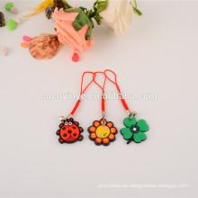 Mode angepasst weich pvc Sonnenblumen Formen Handy Umhängeband