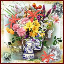 Classic Digital Flora Impresión Cuadrado Bufanda De Seda