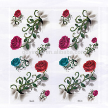 Fancy design Rose with thorns Flowers pattern Waterproof Environment-friendly 3D tattoo sticker for women