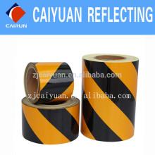 CY anuncio grado reflectante láminas PET tipo amarillo/negro