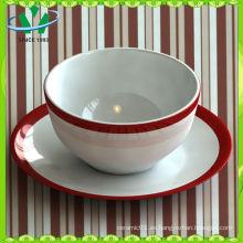 Tazón de la sopa de cerámica del restaurante de la fábrica Venta al por mayor