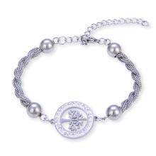 Baum des Lebens-Kettenarmband-Edelstahl-Frauen-Armbandes