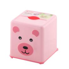 Red Square Plastic Cute Tissue Box (FF-5021-1)