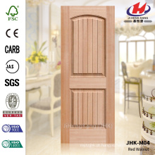 JHK-S01 Painel de porta de folheado Okoume Deep 12MM MDF Okuma popular modelo Vast usado no interior