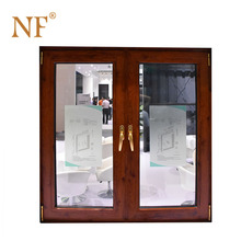 Aluminum double leaf frosted glass exterior door