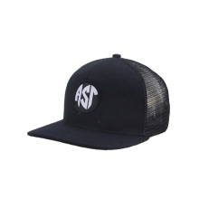 Beechfield Half Mesh Snapback Cap with Embroidery