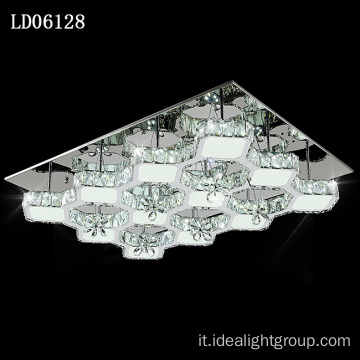 lampadario a led in cristallo con illuminazione a LED