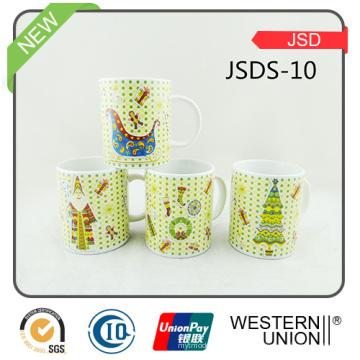 Taza de cerámica de la taza de café de la porcelana para el regalo de la promoción (JSDS-10)