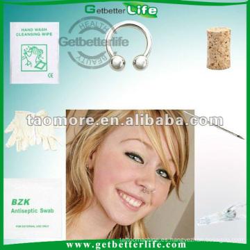 Venta por mayor Body Piercing joyas moda anillo de nariz de herradura