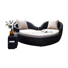 Outdoor rattan sun beach lounge chaise high quality