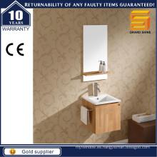 Unidad de gabinete de baño moderno de diseño simple de madera contrachapada de melamina