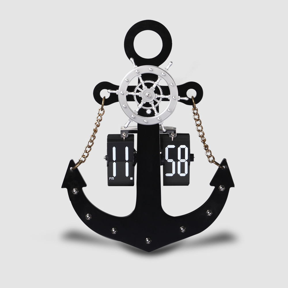 Anchor Flip Clock For Decor