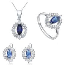 Joyería al por mayor de la joyería de la plata esterlina 925 fijada