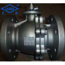 Válvula de bola de aço inoxidável da extremidade da flange 150lb