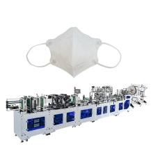 Machine de masque chirurgical de masque facial chirurgical N95 de respirateur à charbon actif plié à plat entièrement automatique