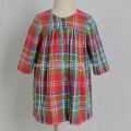 plaid autumn dress long sleeve for kids