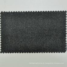 Venda quente feita para medir serviço sob medida verde-oliva espinha de peixe 430g / m 100% tecido de lã merino superfino