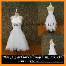 Элегантный девочка платье холтер атласная короткие вечерние платья