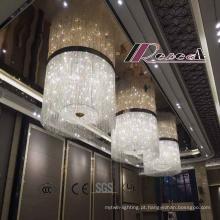 Grande candelabro de cristal decorativo especialmente moderno do hotel com estilo novo