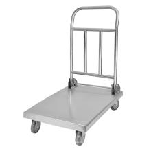 Carretilla de mano de plataforma plegable modelo A de acero inoxidable